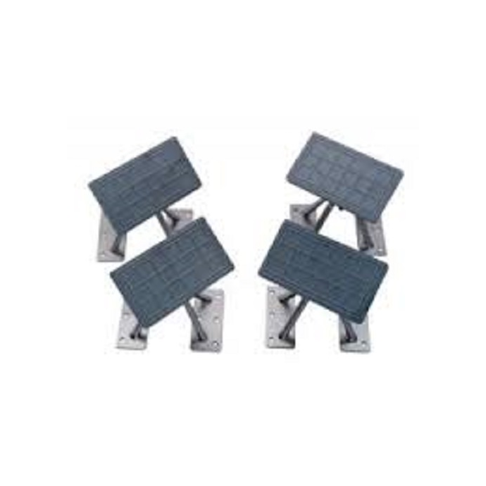 Removable Dinghy Chock Kit - Tilting Pads & Removable Bases - 1,000 lb Capacity