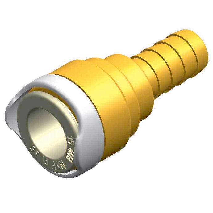 TUBE-HOSE CONNECTOR 15MM TO 1/2IN