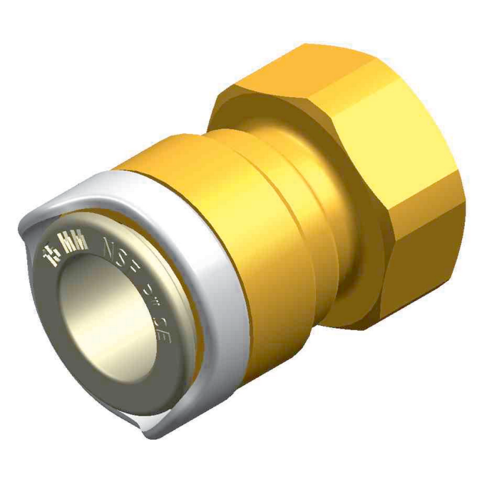ADAPTOR - FEMALE 3/8IN BPS TO 15MM