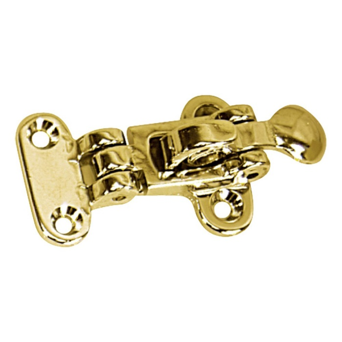 Anti-Rattle Hold Down Hasp - Polished Brass