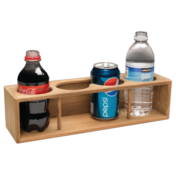 Non-insulator Teak Four Drink and Binocular Rack