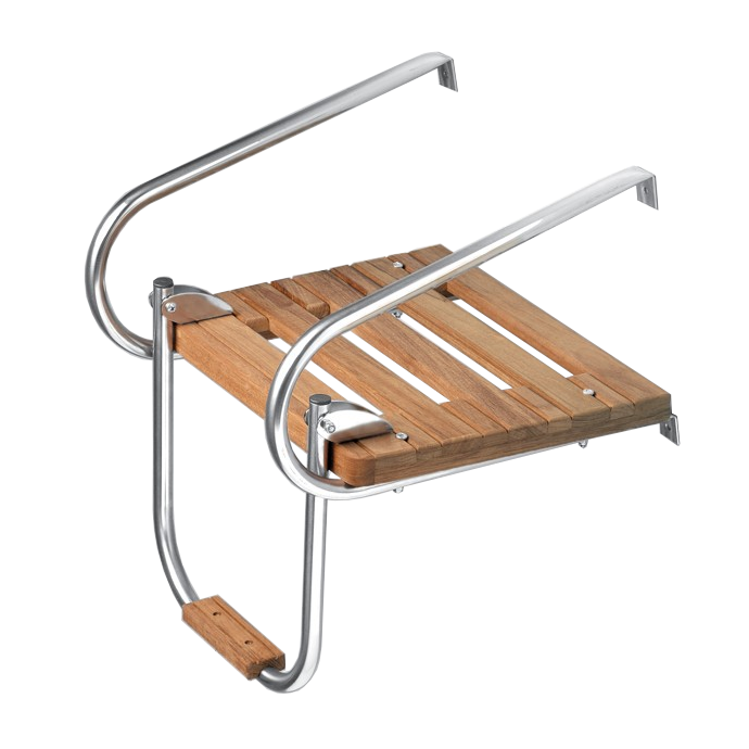 displayed of Whitecap Industries Teak Step Tread for Swim Platform Ladder