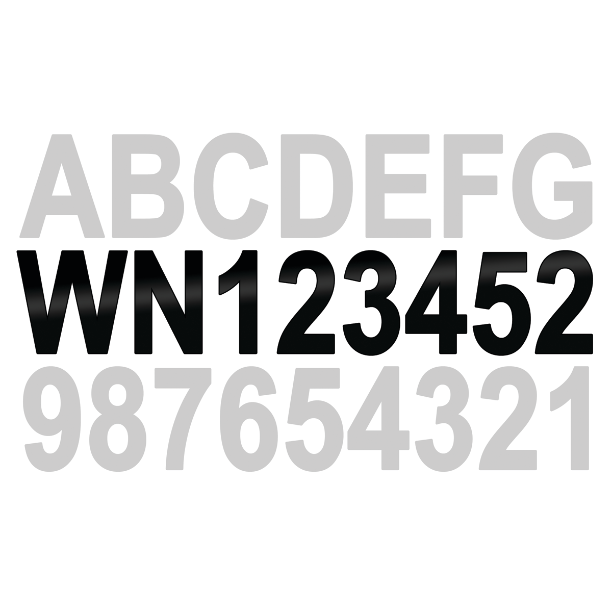 Identification Letters -AMPAND- Numbers