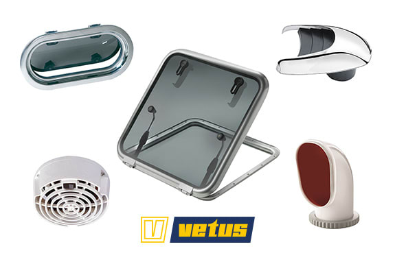 Vetus Portlights, Hatches and Ventilation Sale
