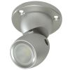 GAI2 Directional LED Light with Heavy Duty Base - Brushed Aluminum, No Switch