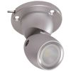 GAI2 Directional LED Light with Heavy Duty Base - Brushed Aluminum, with Switch