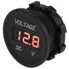 Round Digital Voltage Meter - 4-30V DC