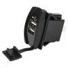 USB Dual Power Socket - Rocker Switch Style