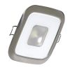 "2-5/8"" Square Mirage Recess LED Light - White w/SS"