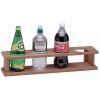 Four Bottle/Glass Teak Holder