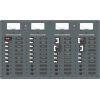 3 AC Sources + 12 AC Positions/DC Main + 19 DC Positions Circuit Breaker Panel