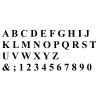 "5"" Classic Roman Numbers & Letters"