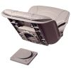 Low Back All-Weather Quick Disconnect Boat Seat & Cushion Combo - Gray