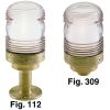 Figs. 112B & 309B - All-Round Cast Bronze Navigation Lights