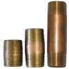 1/8  Inch Red Brass NPT Steel Nipples