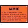 Carbon Monoxide Warning Plaque