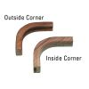Teak Inside and Outside Corner Bulkhead Molding