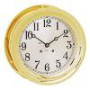 """Ships Bell Mechanical Clock - 8-1/2"""" Brass"""