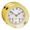 """Ships Bell Mechanical Clock - 6"""" Brass"""