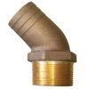 45 Deg Bronze Pipe to Hose Adapter