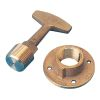 BRONZE GARBOARD PLUG W/HANDLE 3/4IN