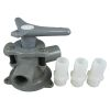 Discontinued: Model BM-94-AB Base Mount Sea-Lect Y-Valves - with Tapped Ports & Hose Adapters