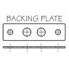 BAcking Plate for S-Style Pull-Up Cleat - Stud Mount