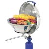 Marine Kettle Gas Grill with Hinged Lid - 15 in