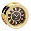 Nautical Series Carbon Fiber Black Flag Quartz Clock - Brass