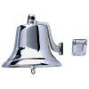 """Fig 0150 Fog Bell - 8"""" Chromed Cast Bronze"""