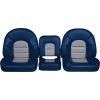 5 Piece Deluxe Console Bench - Blue/Gray