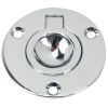 Round Chrome Flush Ring Pull