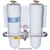 1000 MAM Series Dual Manifold Marine Turbine Diesel Filter - with All Metal Bowls & Selector Valve