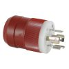 Red 12V or 24V Twist-Lock Battery Charger Plug