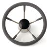 5 Spoke SS Dished Steering Wheel - w/Foam Covering
