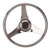 Three Spoke Stainless Steel Dished Steering Wheel