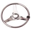 Three Spoke SS Dished Steering Wheel with Knob