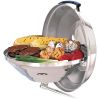 Marine Kettle Charcoal Grill with Hinged Lid - 17 in