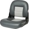 Low Back NaviStyle Boat Seat - Charcoal/Gray