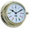 Endurance II 135 Quartz Clock 12 Hour Flag Dial - Brass