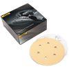 "Bulldog Gold 6"" 6-Hole Grip Vacuum Sanding Discs"