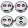 Digital Stainless Steel Waterproof Switches - Dual-Function with Rotating Guard Top