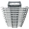 12 Pc. XL Combination Ratcheting Wrench Set Metric