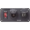 Blue Sea BelowDeck Panel - 12V DC Socket & Dual USB Charger