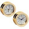 Polaris Brass 12/24 Clock & Barometer Set