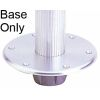 "Small Stowable Table Pedestal Base - Flush Mount Base for 2-1/4"" Stanchion"