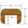 "1/2"" Teak Cap Molding - Straight Length"