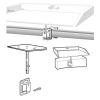 Side (Bulkhead) Mount or Square⁄Flat Rail Table Mount
