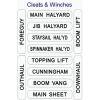 Nash No. 201 Sailboat Labels - Cleat & Winch