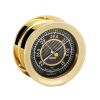 front view of Chelsea Nautical Carbon Fiber Black Flag Barometer - Brass
